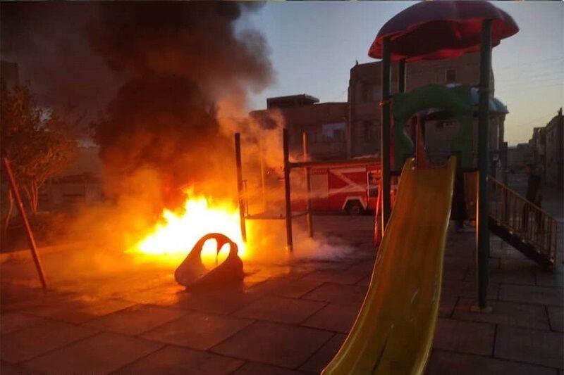 مدیرعامل سازمان آتشنشانی: آتشسوزی پارک بازی مبارکه عمدی بود