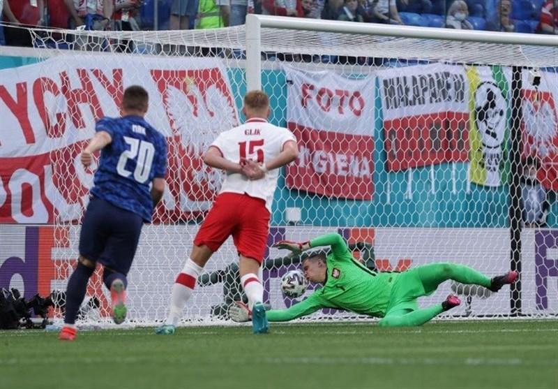 یورو ۲۰۲۰/ پیروزی یک نیمهای اسلواکی برابر لهستان