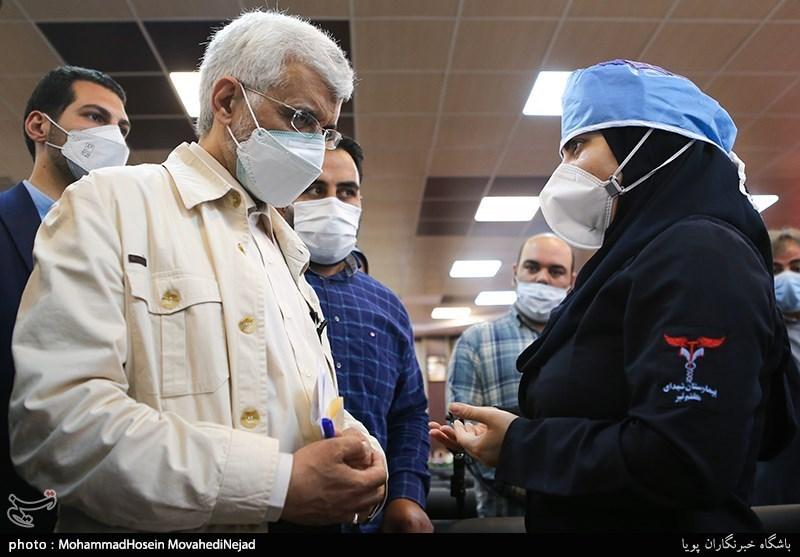 عکس/ بازدید سعید جلیلی از بیمارستان هفتم تیر شهرری