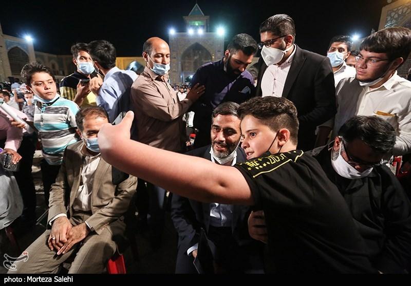 عکس/ سعید محمد در میان اجتماع حامیان رییسی در اصفهان