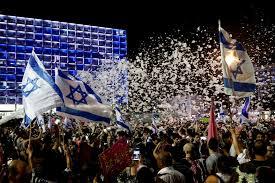 جشن مخالفان نتانیاهو در تل آویو