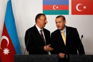 استقبال گرم علیاف از اردوغان در قرهباغ