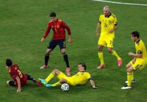 یورو ۲۰۲۰/ نیمه اول مصاف اسپانیا و سوئد برنده نداشت