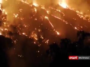 آتش در جنگلهای زاگرس؛ ۶روز گذشت