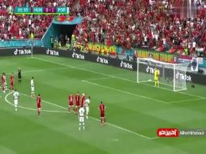 گل دوم پرتغال توسط رونالدو