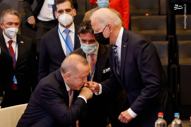 عکس/ سلام بایدن به اردوغان سوژه شد!