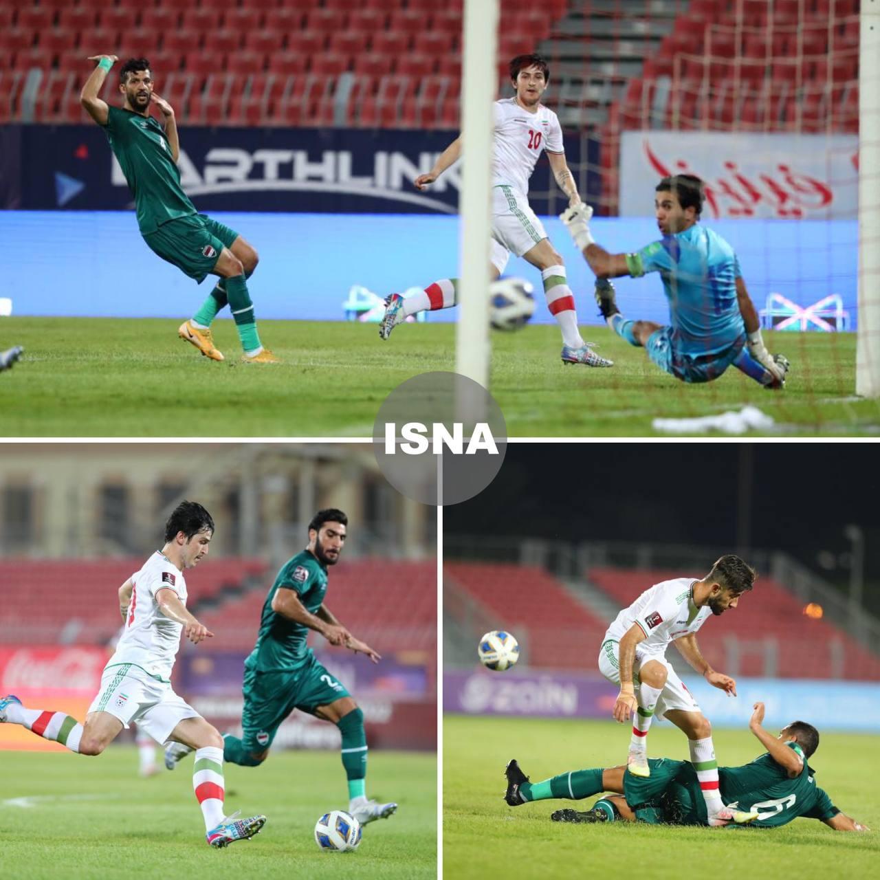 تصاویری از دیدار تیم فوتبال ایران و عراق