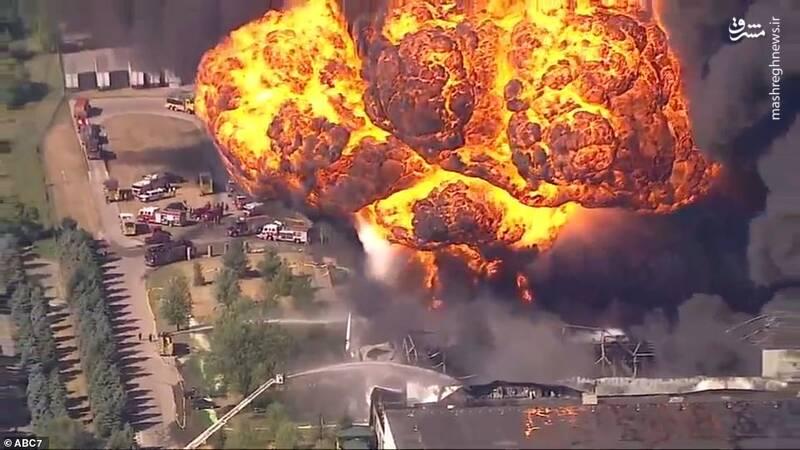 عکس/ انفجار در مجتمع شیمیایی ایالت ایلینوی آمریکا