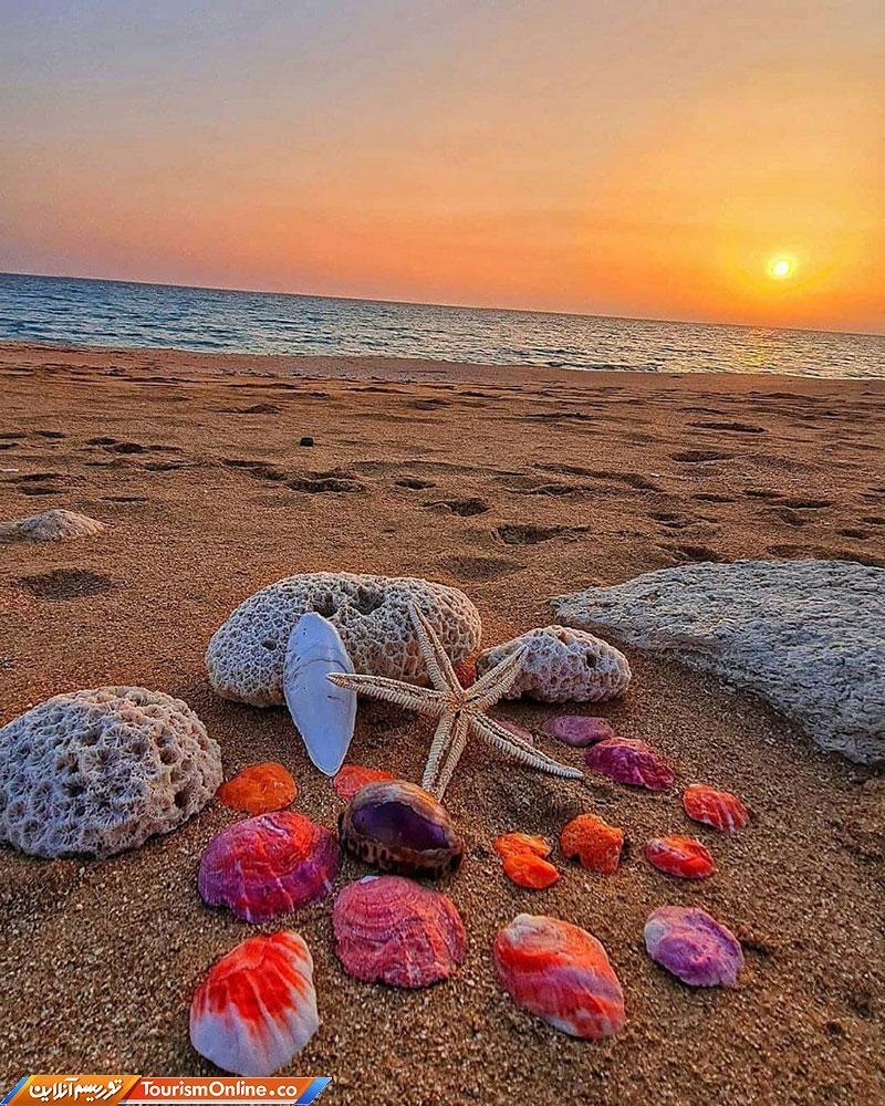 زیبایی های ساحل خلیج فارس