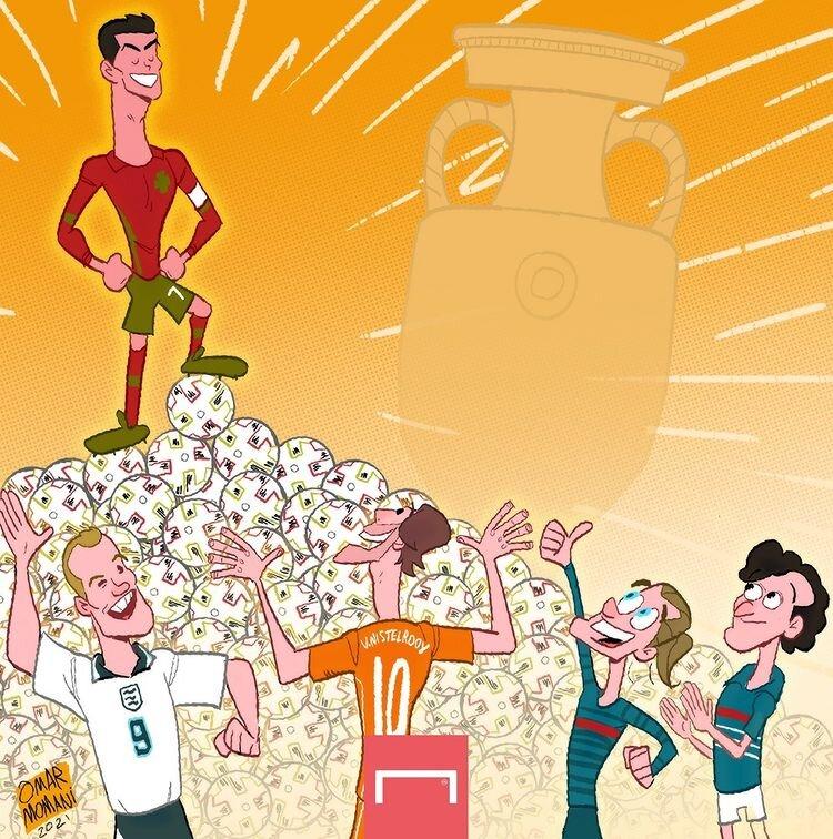 کاریکاتور/ رکورد جدید رونالدو در یورو ۲۰۲۰ را ببینید!