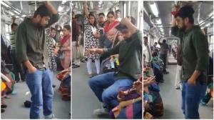اقدام غیراخلاقی مسافر برای تصاحب صندلی در مترو!