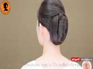 ترفندی ساده برای خودآرایی موهای بلند