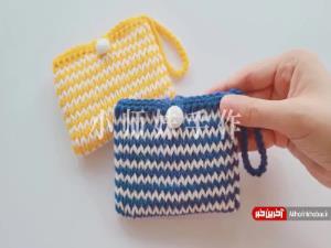 آموزش بافت کیف دستی زیبا و ساده