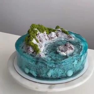 تزئین کیک جذاب و منحصر به فرد اقیانوسی