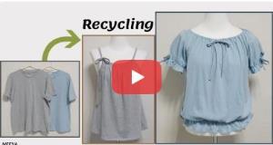 آموزش تبدیل تیشرت کهنه به تاپ و پیراهن