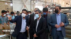 بازدید معاون وزیر صمت از واحدهای صنعتی خمین و محلات