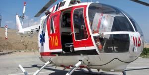 پرواز بالگرد اورژانس جان مرد ٥٠ ساله ساوجبلاغی را نجات داد