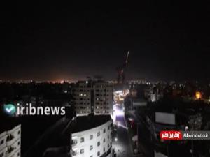 تصاویری از تجاوز شب گذشته رژیم صهیونیستی علیه نوار غزه