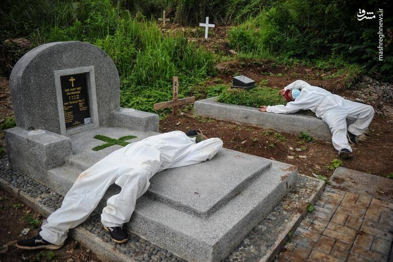 استراحت کارمندان قبرستان