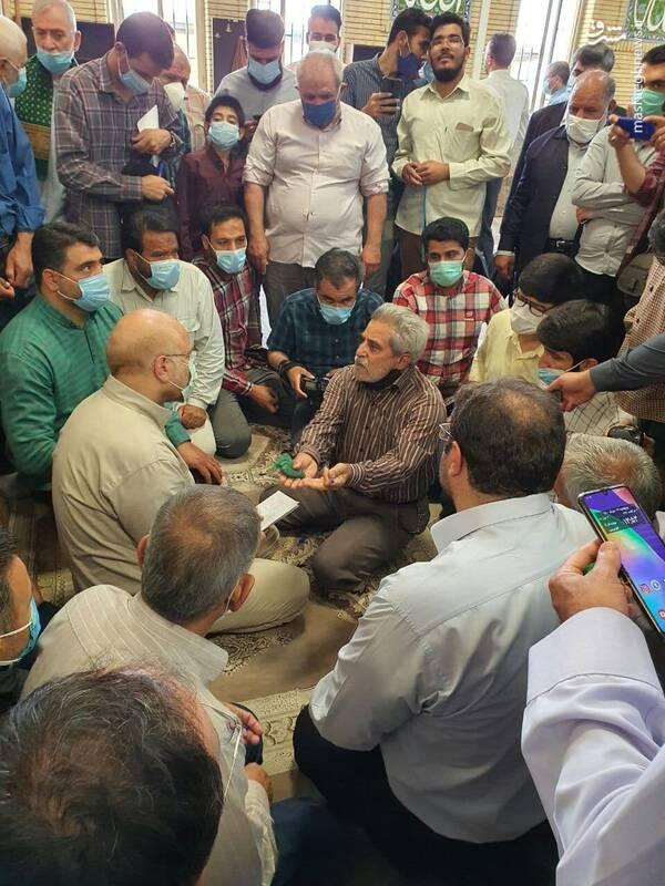 گفتگوی قالیباف با مردم در مسجد امام علی(ع) پردیس