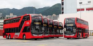 اتوبوسهای دو طبقه برقی جدید آمریکا معرفی شد، ظرفیت بالا با سه محور