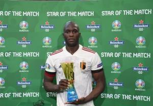 لوکاکو بهترین بازیکن دیدار دانمارک - بلژیک لقب گرفت