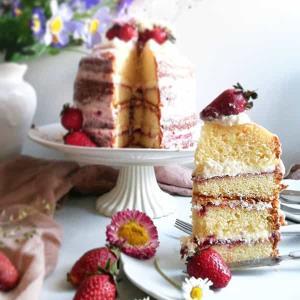 طرز تهیه کیک اسفنجی ویکتوریا خوشمزه و مخصوص کافی شاپی