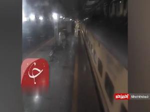 لحظه نفسگیر نجات مسافر در ایستگاه قطار