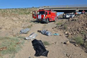 ۴ جانباخته، در پی واژگونی خودرو در مشهد مقدس