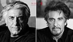 تصویری جالب از ترکیب چهره  رضا کیانیان و آل پاچینو