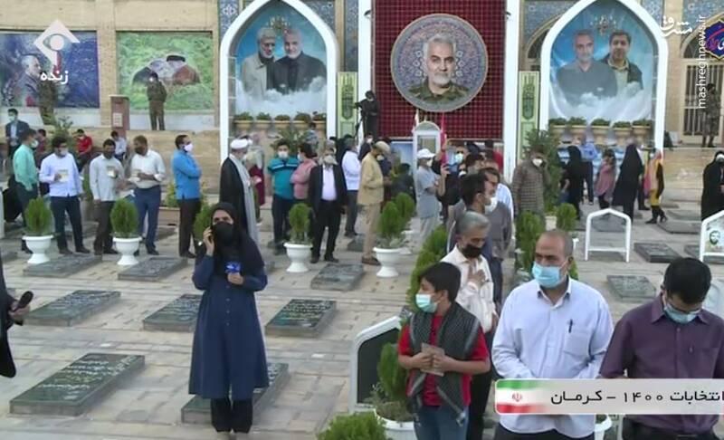 عکس/ شور انتخابات در گلزار شهدای کرمان