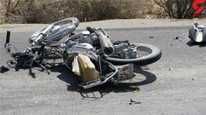 مرگ تلخ موتور سوار 18 ساله در تصادف