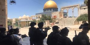 حمله صهیونیستها به تظاهرات فلسطینیها در مسجدالاقصی