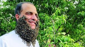 رکورد شکنی مرد عرب با تحمل ۲۴۰ هزار نیش زنبور!