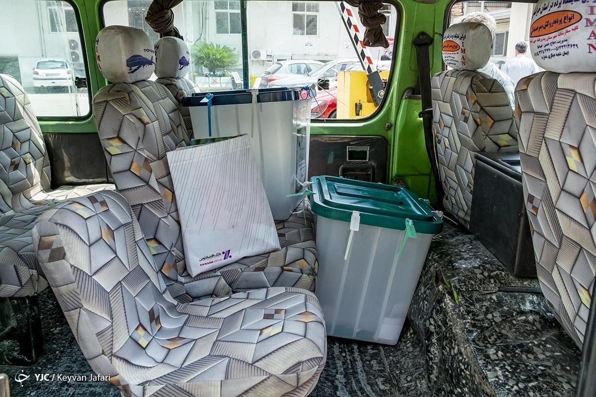 عکس/ صندوق اخذ رای سیار در ساری