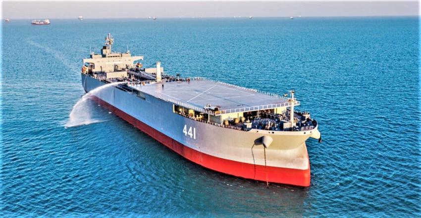 کشتی ایرانی «مکران» تهدیدی جدید برای آمریکا