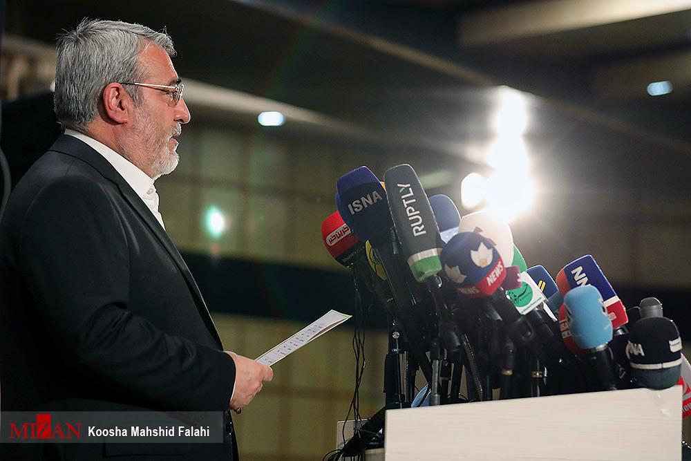 نشست خبری وزیر کشور بعد از پایان انتخابات