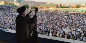 جشن پیروزی رئیسی در میدان امام حسین(ع) تهران
