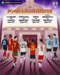 طرح جالب بلیچر ریپورت از دیدارهای حساس امروز جهان فوتبال و تعبیر