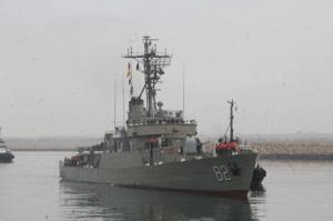 ناوگروه هفتاد و چهارم نیروی دریایی ارتش در بندر چابهار پهلو گرفت
