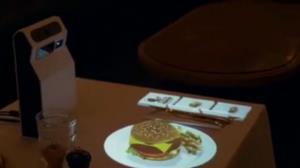 منوی غذای یک رستوران با قابلیت واقعیت افزوده