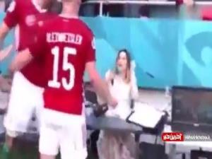واکنش جالب خانم خبرنگار به خوشحالی عجیب بازیکن مجارستان