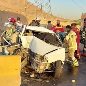 مصدومیت 7 مسافر به دلیل تصادف پراید در بزرگراه