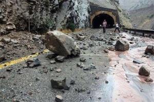 ریزش کبیرکوه در درهشهر حادثه آفرید