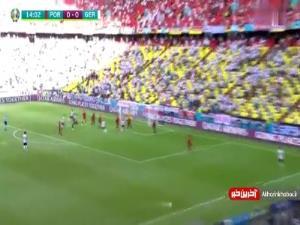 گل اول پرتغال به آلمان توسط رونالدو