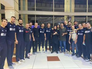 تیم ملی بسکتبال قبل از المپیک به توکیو رفت