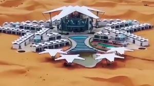 ساخت هتلی جالب در دل صحرا توسط چینیها