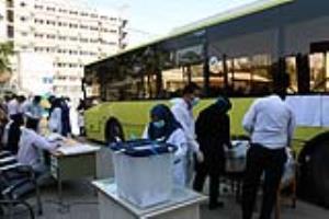 تصاویری از اخذ رأی از کادر درمان در شهرکرد