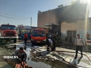 عکس/ آتشسوزی انبار ضایعات در زیباشهر اهواز