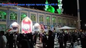 شادی مردم کرمان در جشن انتخابات بر مزار شهید سلیمانی